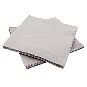 150 grijs papier servetten