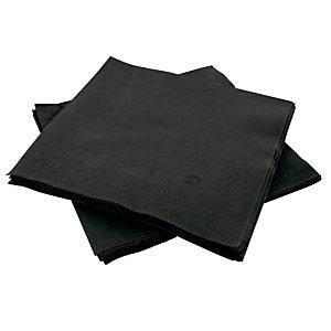 150 zwart papier servetten