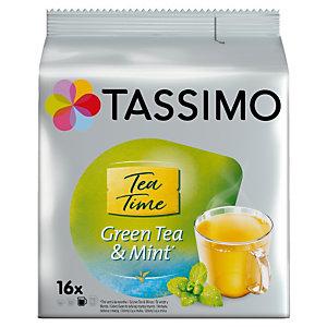 16 dosettes T-Discs Tassimo Twinnings thé vert à la menthe