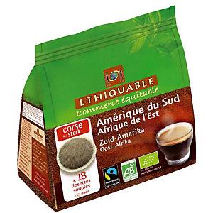 18 dosettes de café moulu Ethiquable