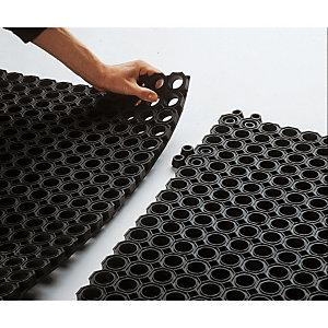 2 attaches de fixation épaisseur 23 mm pour caillebotis caoutchouc standard coloris noir