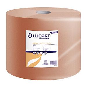 2 beige handdoekrollen Lucart XL, 1500 vellen