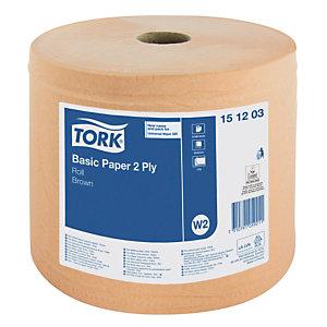 2 beige handdoekrollen Tork, 1000 vellen