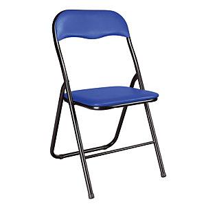 2 blauwe vouwstoelen in vinyl