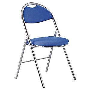 2 blauwe vouwstoelen Super Comfort