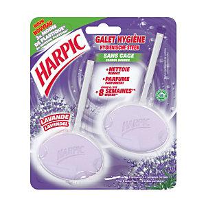 2 blocs harpic galet hygiène parfum lavande