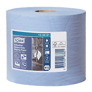 2 bobines d'essuyage Tork Papier d'essuyage industriel, 350 formats