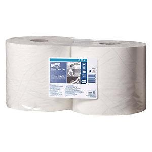 2 bobines d'essuyage Tork Papier d'essuyage Plus, 750 formats