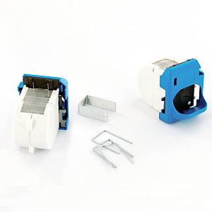 2 cassettes de 1500 agrafes pour agrafeuse électrique Rapid R5025