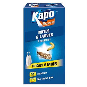 2 cassettes anti mites et larves Kapo