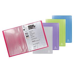 2 documentbeschermers 40 hoesjes Chromaline Exacompta geassorteerde kleuren