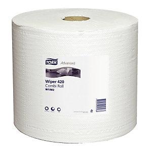 2 handdoekrollen Tork Papier handdoekjes Plus, 1500 vellen