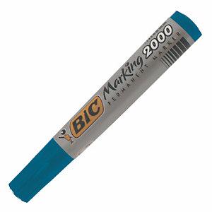 2 marqueurs permanents Bic 2000 Coloris bleu