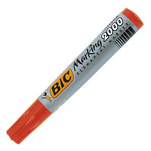 2 marqueurs permanents Bic 2000 Coloris rouge