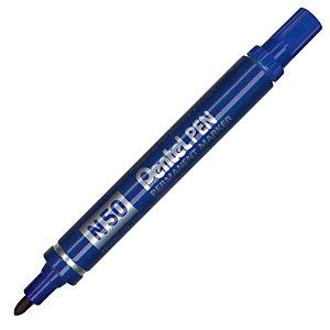 2 marqueurs permanents Pentel N50 coloris Bleu