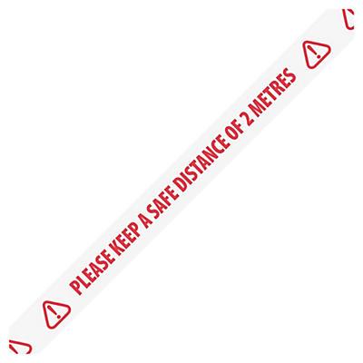2 Metres Distance Warning Tape