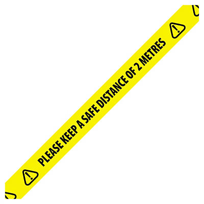 2 Metres Distance Warning Tape