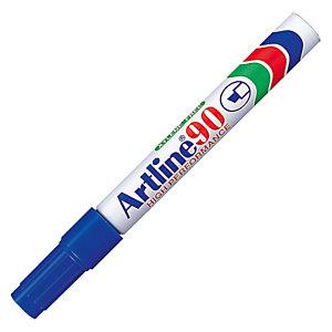 2 onuitwisbare markeerstiften Artline 90 kleur blauw