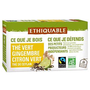 2 paquets Thé Vert Gingembre/ Citron vert Ethiquable