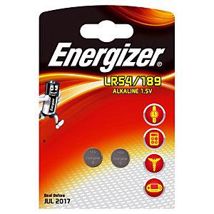 2 piles bouton Alcaline Energizer 390/389