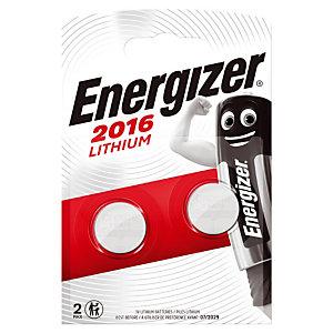 2 Piles bouton Lithium Energizer CR 2016