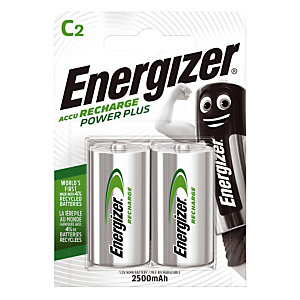2 piles rechargeables ENERGIZER HR14 Ni-MH