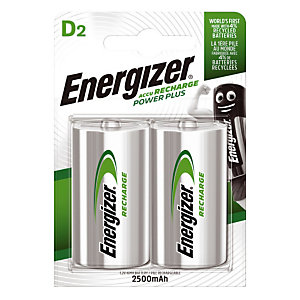 2 piles rechargeables ENERGIZER HR20 Ni-MH