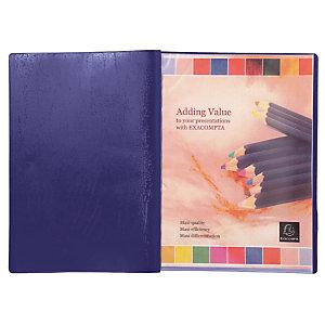2 protège- documents PVC Véga 20 pochettes /40 vues coloris bleu