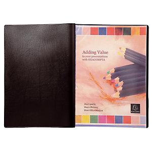 2 protège- documents PVC Véga 20 pochettes /40 vues coloris noir