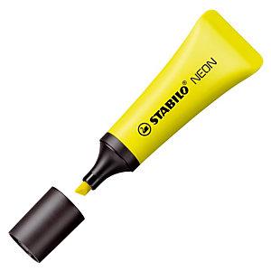 2 surligneurs Stabilo Néon coloris jaune