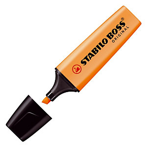 2 tekstmarkers Stabilo Boss original kleur oranje