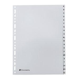 2 x 20 alfabetische inlegvellen Exacompta formaat A4 polypro 12/100e