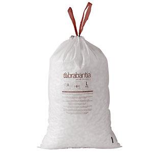 2 x 20 sacs spécial poubelles étroites 3 L Brabantia