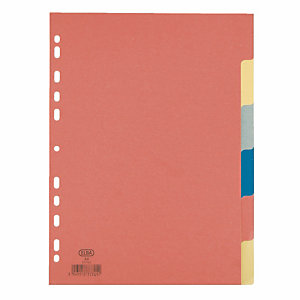 2 x 6 intercalaires Elba touches neutres format A4 carton 160 g