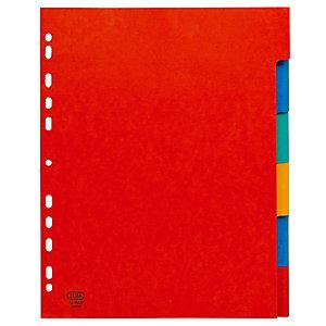 2 x 6 intercalaires Elba touches neutres format maxi A4 carte lustrée 30/100e