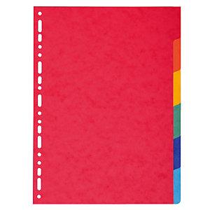 2 x 6 intercalaires Exacompta touches neutres format A4 carte lustrée 220 g