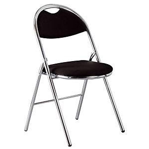 2 zwarte vouwstoelen Super Comfort
