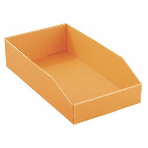 20 bacs à becdépliables en polypropylène alvéolaire orange - Profondeur 460 mm - 12.5 L