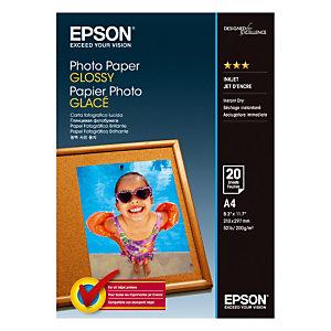 20 feuilles papier photo A4 jet d'encre Epson S042538, la pochette