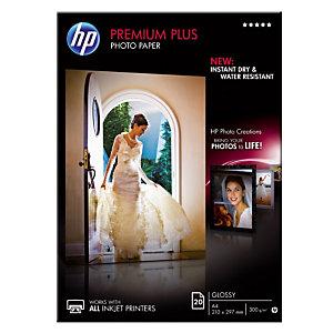 20 feuilles papiers photo A4 Jet d'encre HP Premium Plus CR672A, la pochette