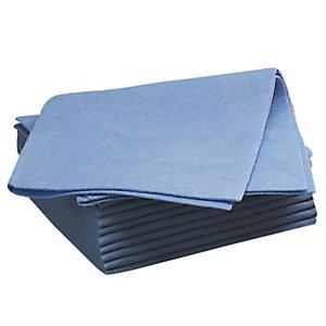 20 lavettes non tissées Futura bleu