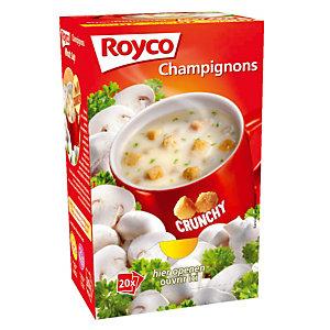 20 sachets Soupe Royco Champignons Crunchy