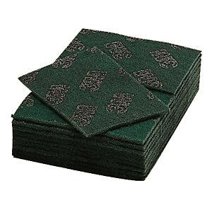 20 tampons abrasifs géants récurage courant Scotch-Brite vert 22 x 16 cm