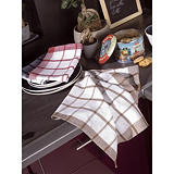 20 torchons coton assortis##20 geassorteerde keukendoeken in katoen