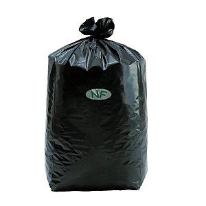 200 sacs poubelles NF en fléxitène 130 L coloris noir