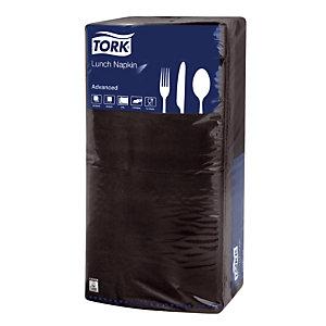 200 tafelservetten Lunch Tork zwart