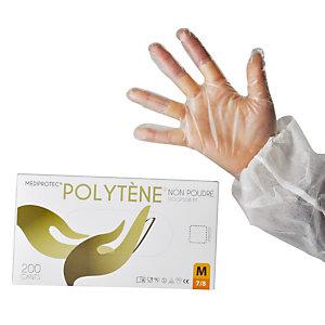 200 voordelige polytène handschoenen voor kortstondig gebruik maat 9