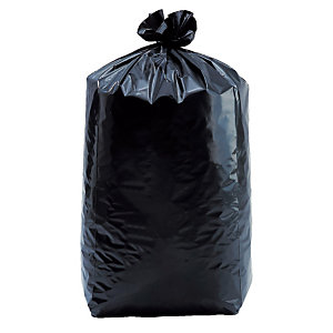 200 zakken 130 L, zwarte kleur