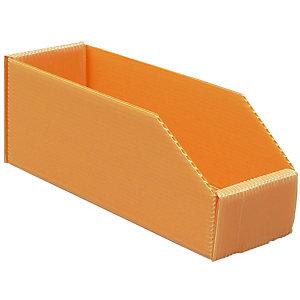 25 Bacs pliables polypro 2L orange