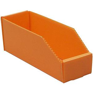 25 Bacs pliables polypro 4.3 L Orange